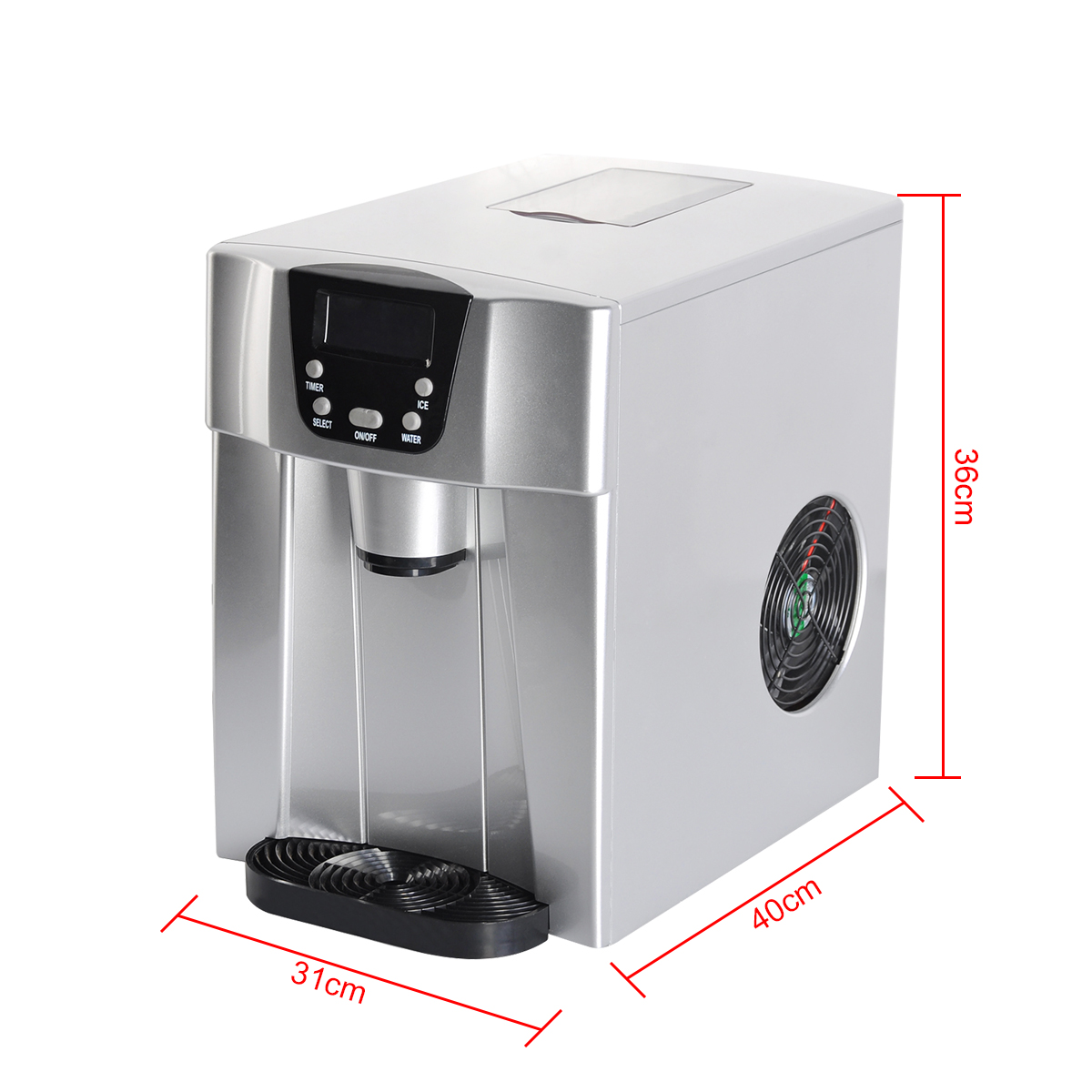 Cube Ice Maker 2l Home Portable Cube Ice Maker Machine Lcd Control Panel Easy