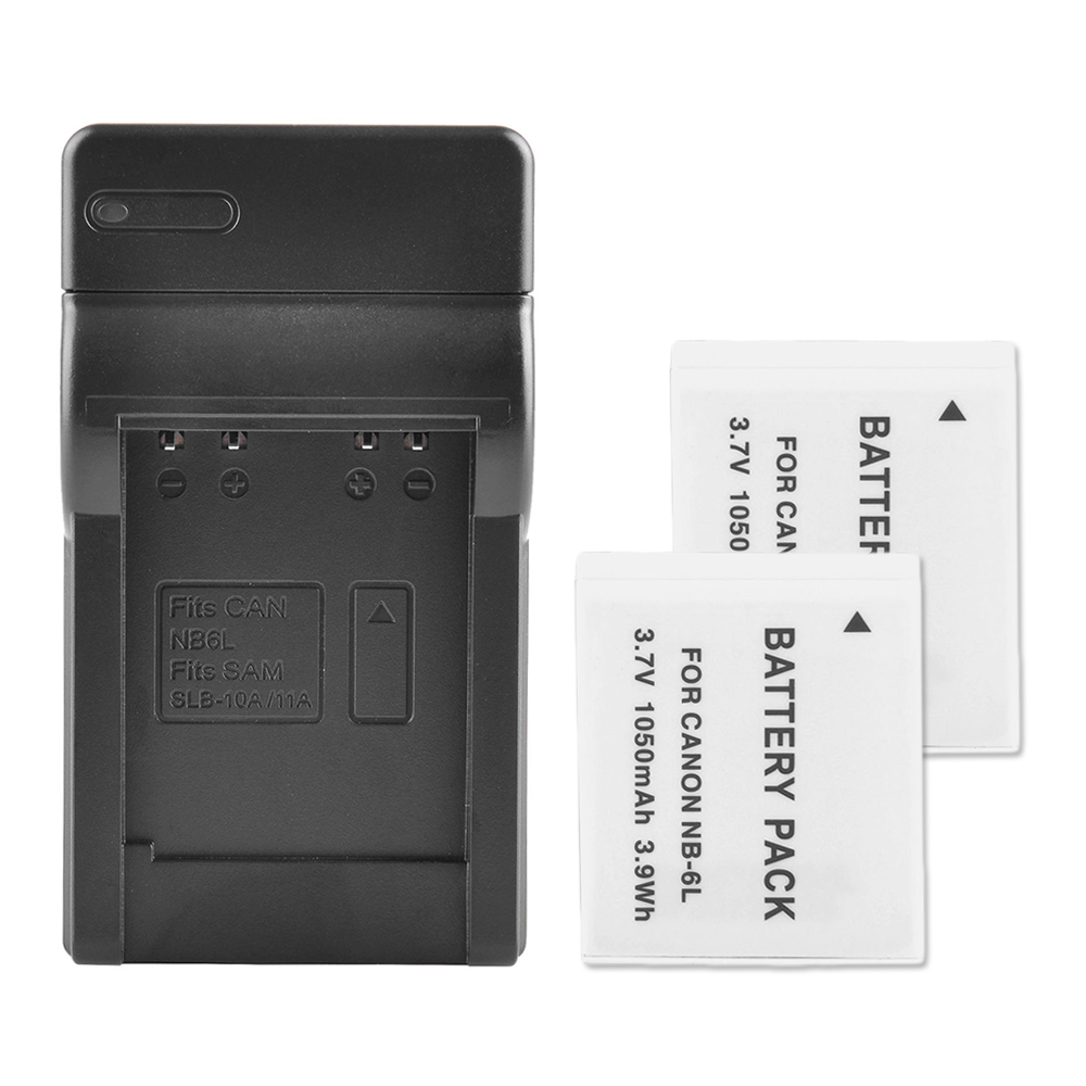 2-x-New-Battery-USB-Charger-Dock-For-Canon-NB-6LH-NB-6L-D10-SD1200-SD770-S9