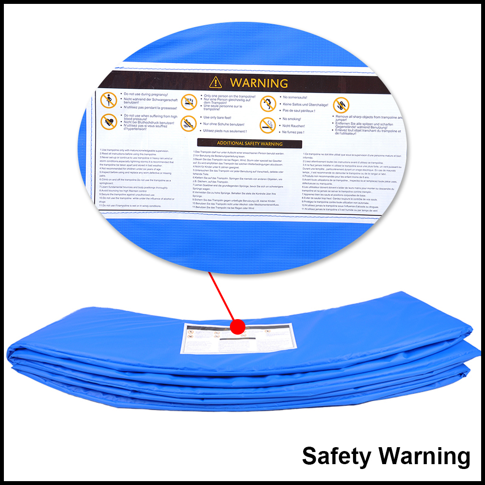 10 12 14 15 Trampoline Replacement Pad Pading Safety Net: Replacement Trampoline Safety Net Spring Padding Pad Cover